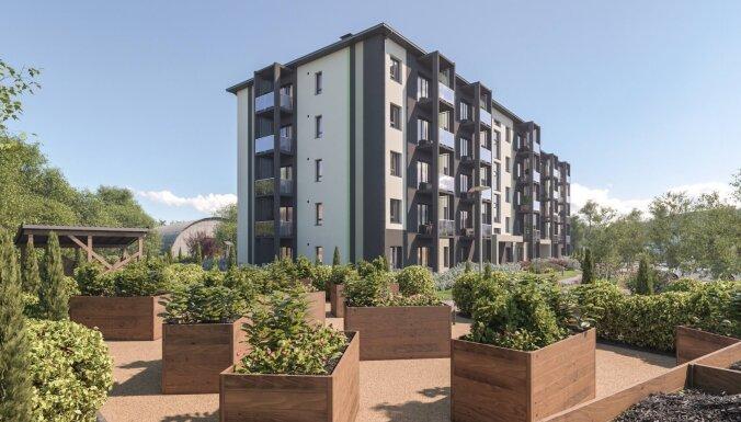 ФОТО: В Риге в районе ВЭФ стартует строительство нового жилого комплекса