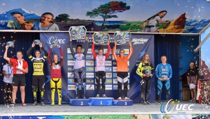 Četri Latvijas jaunieši iekļūst labāko sešiniekā Eiropas čempionātā BMX riteņbraukšanā