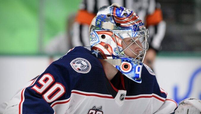 Merzļikins stāsies 'Blue Jackets' vārtos NHL sezonas pirmajā spēlē
