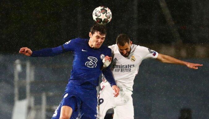 UEFA Čempionu līga: 'Real' un 'Chelsea' pusfināla spēlē apmainās ar skaistiem vārtiem