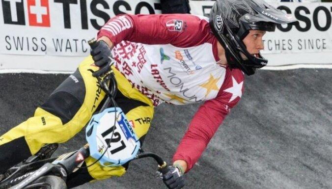 BMX riteņbraucējam Treimanim trešā vieta Pasaules kausa etapā