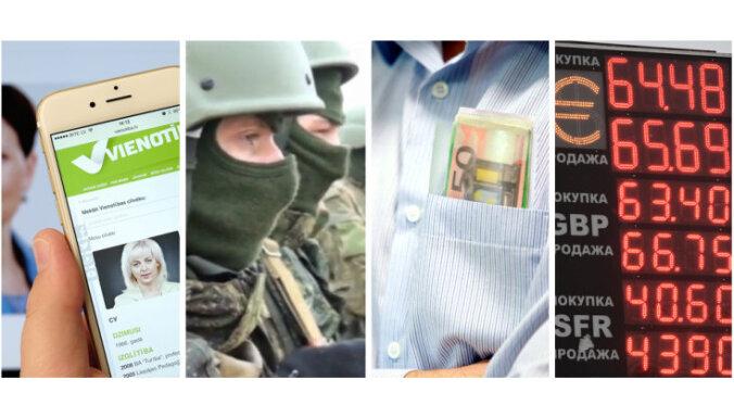 Skandāls 'Vienotībā', Krievijas 'kara spēles', ministru maciņi, rublis krīt bezdibenī