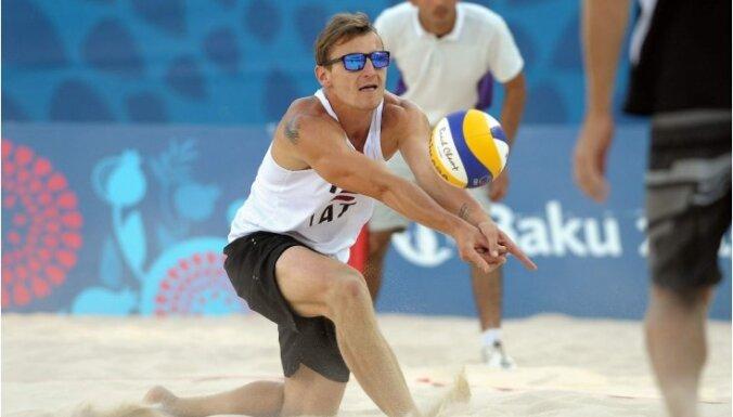 Пляжные волейболисты принесли Латвии первую в истории золотую медаль Европейских игр