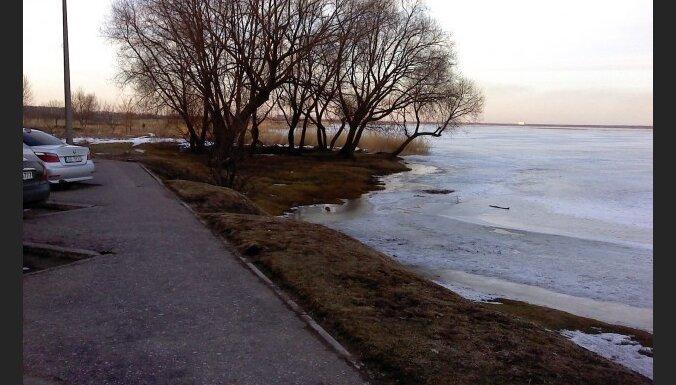 Лиепая: уровень воды в озере стал выше