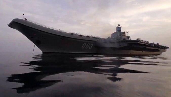 Bāzeskuģī 'Admiral Kuzņecov' Krievija plāno ieguldīt miljardu eiro