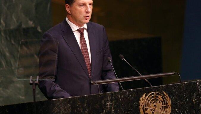 На саммите ООН в Нью-Йорке Вейонис рассказал о достижениях Латвии