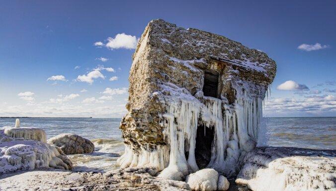 Foto: Mežonīgās jūras un sala mākslas darbi Ziemeļu fortos