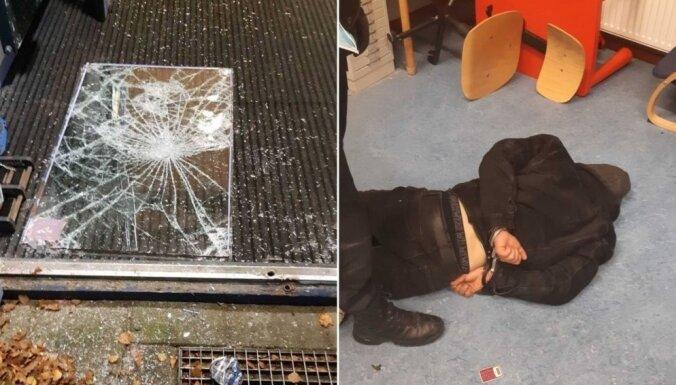 Голландия: гражданин Латвии выбил стекло и проник в школу