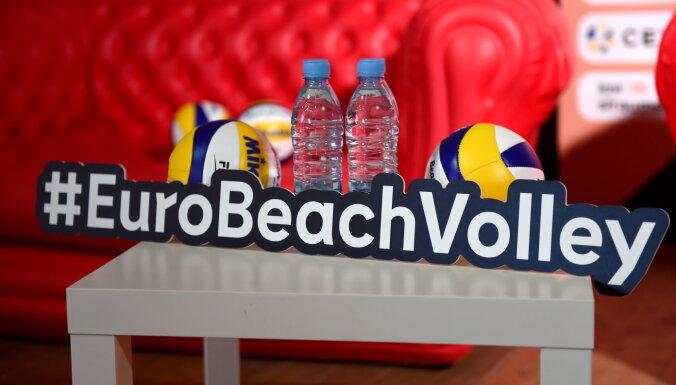 Eiropas čempionāts pludmales volejbolā Jūrmalā: četriem spēlētājiem pozitīvi Covid-19 testi