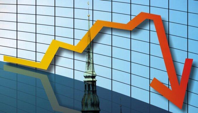 Jaunākā Latvijas Bankas prognoze paredz 6,5% ekonomikas sarukumu šogad