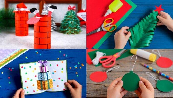 Nekas nav nokavēts: idejas svētku rotājumiem, ko uztaisīt kopā ar bērnu