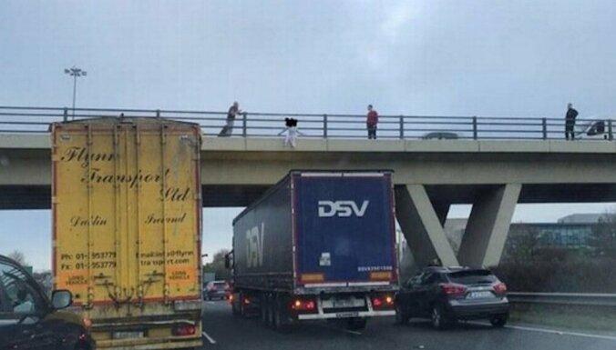 В Ирландии водитель грузовика эстонской фирмы спас девушку