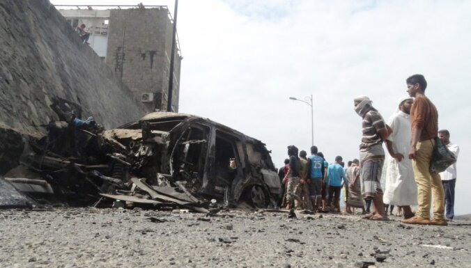 Adenas gubernators Jemenā iet bojā sprādzienā, atbildību uzņemas 'Daesh'