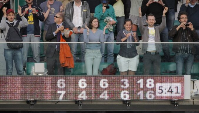 Isners ar Matjē mačā sasniegts jauns 'French open' rekords