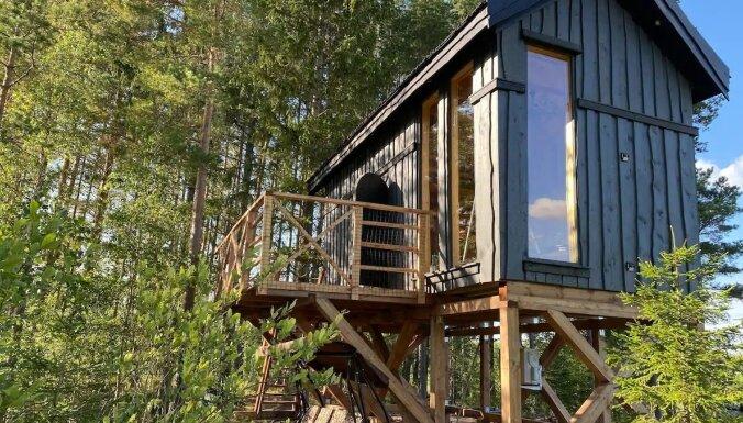 ФОТО. Домики в лесу на берегу озера – фантастическое место для отдыха под Талси