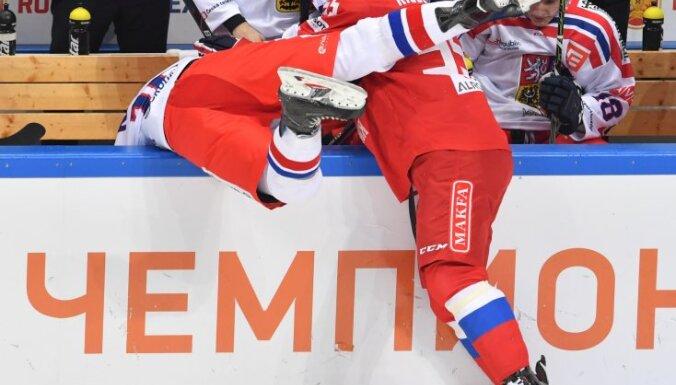 Ice hockey. Channel One Cup. Russia vs. Czech Republic