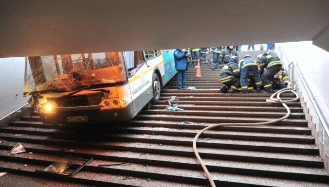 СКР: въехавший в переход в Москве автобус был исправен, виноват шофер