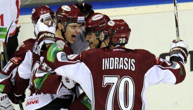 Indrašis un Rīgas 'Dinamo' šokē Sanktpēterburgu