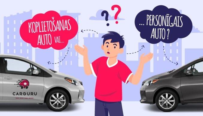 Nepieejamība un augstās izmaksas - faktori, kas traucē atteikties no personīgās automašīnas par labu automašīnu koplietošanai