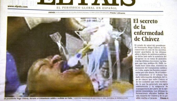"Газета опубликовала ""фальшивого Чавеса"" на операционном столе"