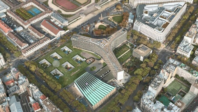 Arhitekts Dripe: Koncertzāles dēļ nojaucamā ēka ir UNESCO mītnes Parīzē gandrīz precīza kopija
