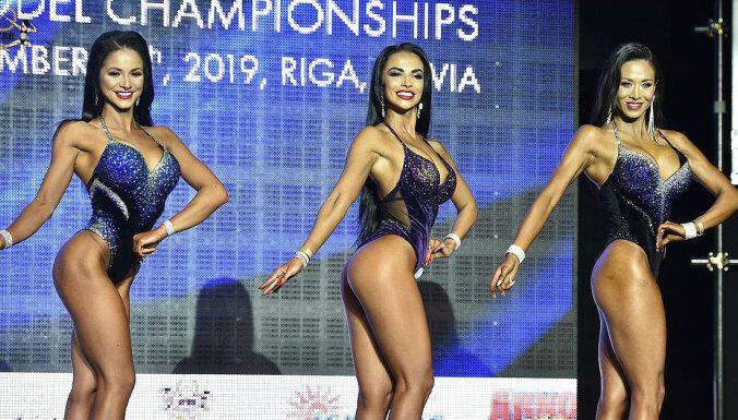 Foto: Rīgā krāšņi aizvadīts 'Fit Model' skaistuļu pasaules čempionāts