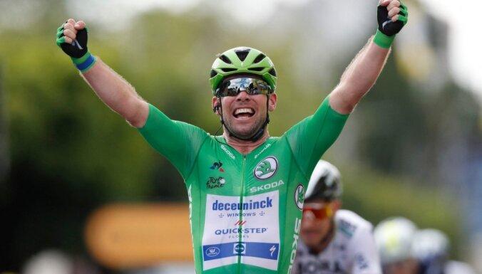 Kavendišs tuvojas Merksa rekordam pēc otrās uzvaras šā gada 'Tour de France' posmā