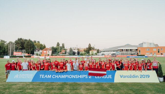 Latvijas vieglatlēti ceturtajā vietā Eiropas komandu čempionātā