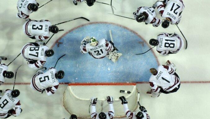 Cборная Латвии проводит решающий матч за путевку на Олимпиаду