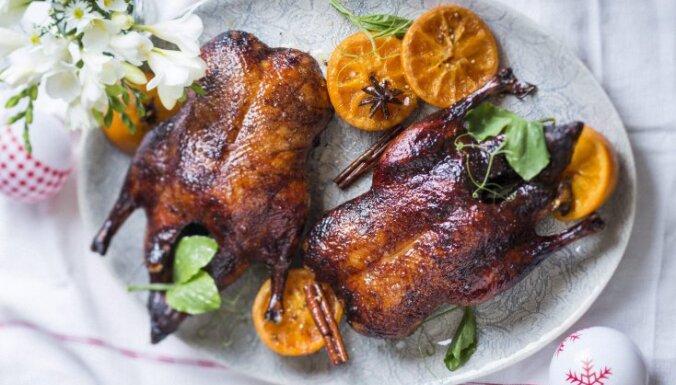 Pīles cepetis ar apelsīnu mērci