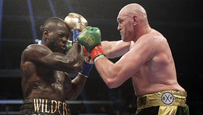 Уайлдер дважды отправил Фьюри в нокдаун, но бой завершился вничью