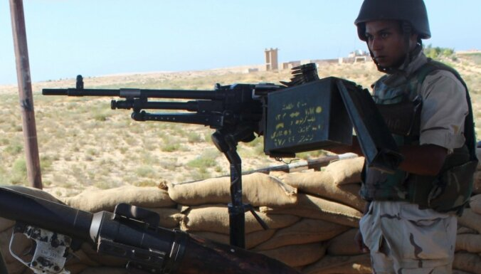 Sadursmēs Ēģiptē nogalināti septiņi džihādisti, 15 karavīri krituši vai ievainoti