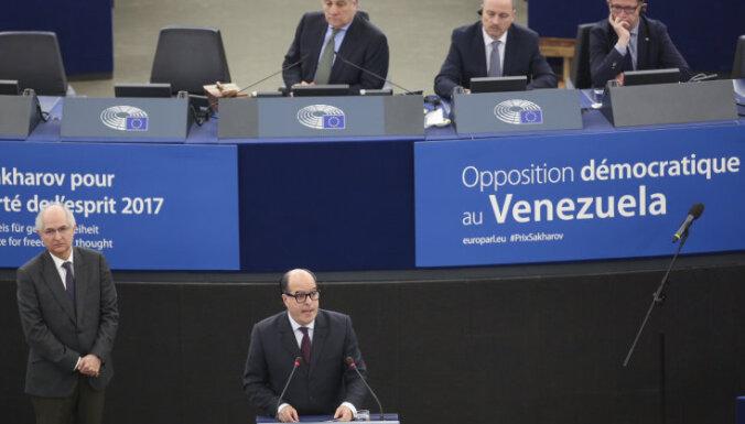 Demokrātiskā opozīcija Venecuēlā saņem 2017. gada Saharova balvu