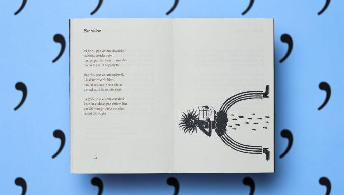 Izdots Ilmāra Šlāpina dzejoļu krājums 'Es nemāku, komatus'