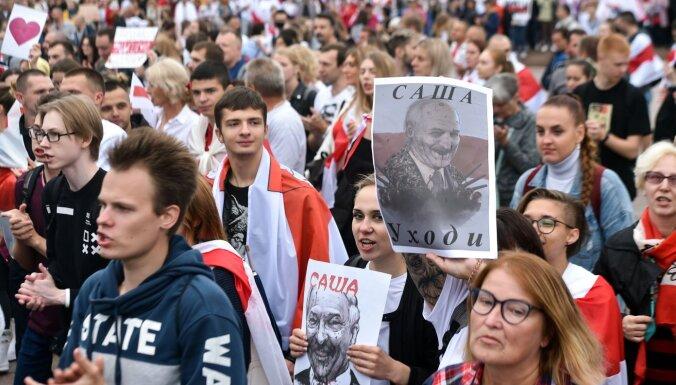 Противники Лукашенко вышли на шествие в центре Минска
