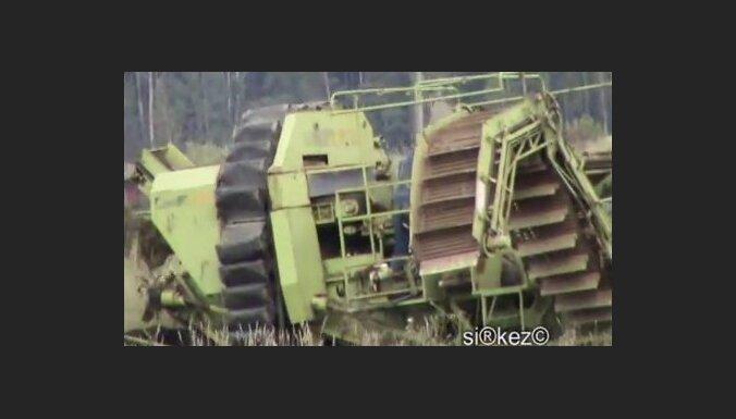 Суровые латгальские грибники собирают грибы... комбайном (видео)