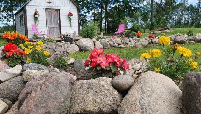 Dārzi kaimiņzemē: Laukakmeņu dobe Igaunijā, kas izveidota kā vijīga upe