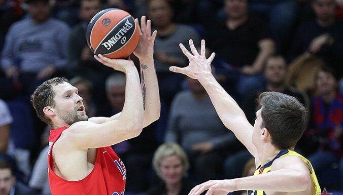 Strēlnieka pārstāvētā CSKA Eirolīgas spēlē Maskavā zaudē Šmita 'Barcelona'