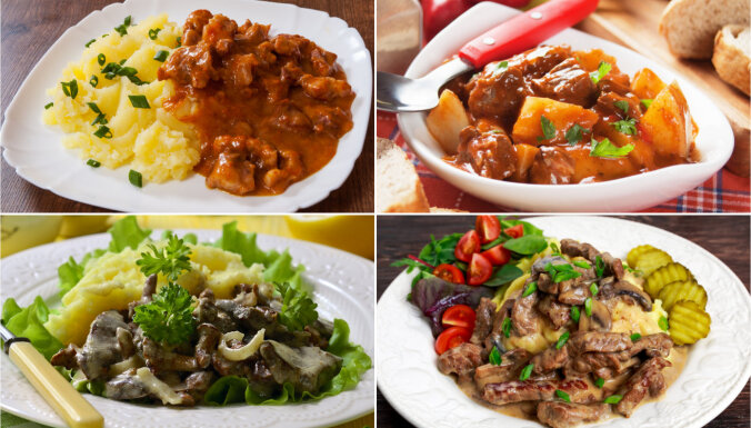 Gulašs un stroganovs – padomju ēdnīcu klasika. 18 receptes ar nostalģijas piegaršu