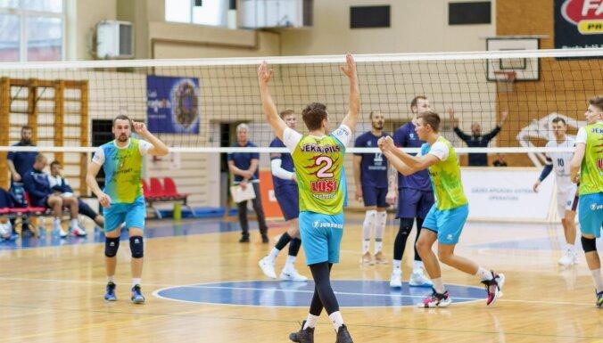 Jēkabpils 'Lūšu' volejbolisti piecos setos zaudē Tartu komandai un neatgūst līderpozīciju