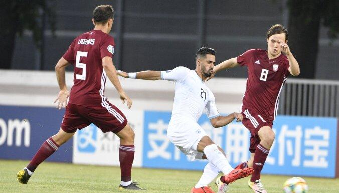 Latvijas futbolisti 'sausuma' periodu centīsies pārtraukt Izraēlā