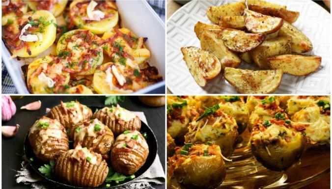 Ļauj pastrādāt cepeškrāsnij! Kārdinošas ceptu kartupeļu receptes