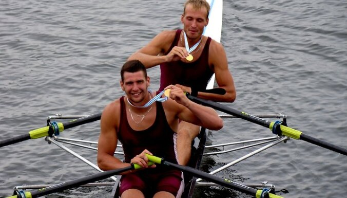 Латвийские гребцы— бронзовые призеры ЧЕ