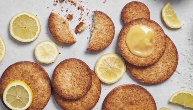 Bretaņas sviesta cepumi ar citronu krēmu