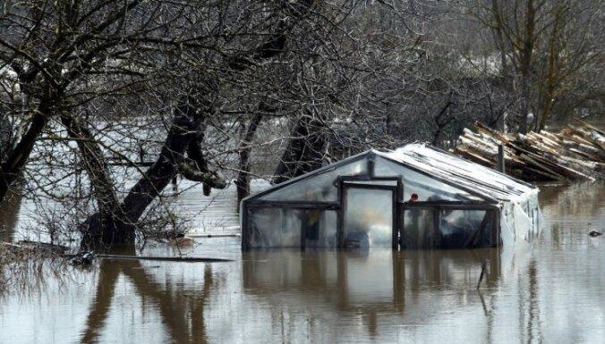 Pļaviņās plūdu radītie zaudējumi varētu būt aptuveni pusmiljona latu apmērā