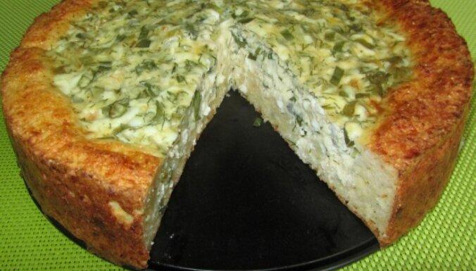Соленый пирог для тех, кто считает калории