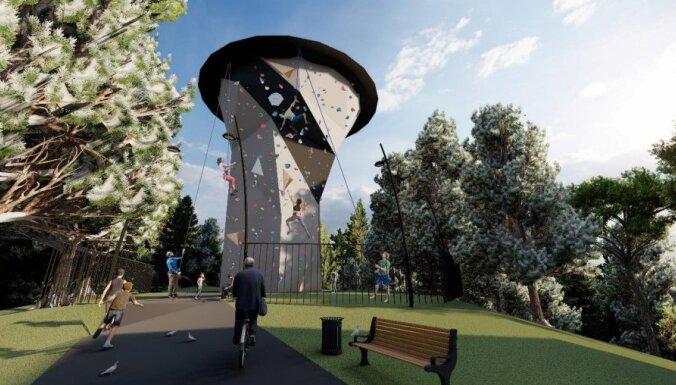 Старая водонапорная башня в Огре станет стеной для скалолазов