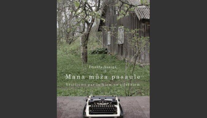 Apgāds 'Mansards' izdevis dzejnieka Imanta Auziņa grāmatu 'Mana mūža pasaule'