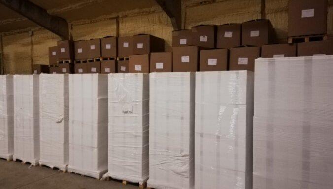 ФОТО. Под Елгавой обнаружили подпольную табачную фабрику: изъято 7 млн. сигарет