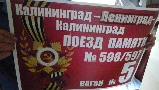 Lietuvā neielaiž vilcienu ar padomju simboliku no Krievijas